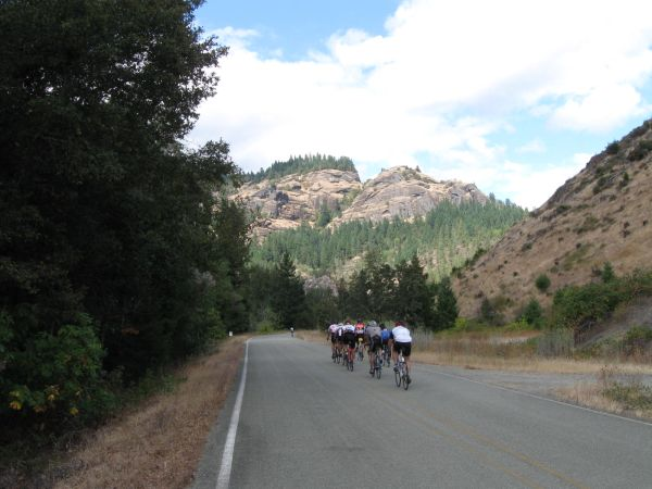 Cycle Oregon 2011 on Cow Creek Road